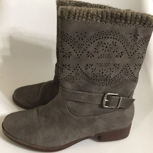 Shoes - Just Fab Women's Raya Faux Leather Boots Size 9